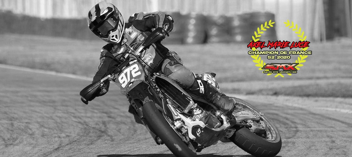 AXEL MARIE LUCE CHAMPION DE FRANCE SUPER MOTARD